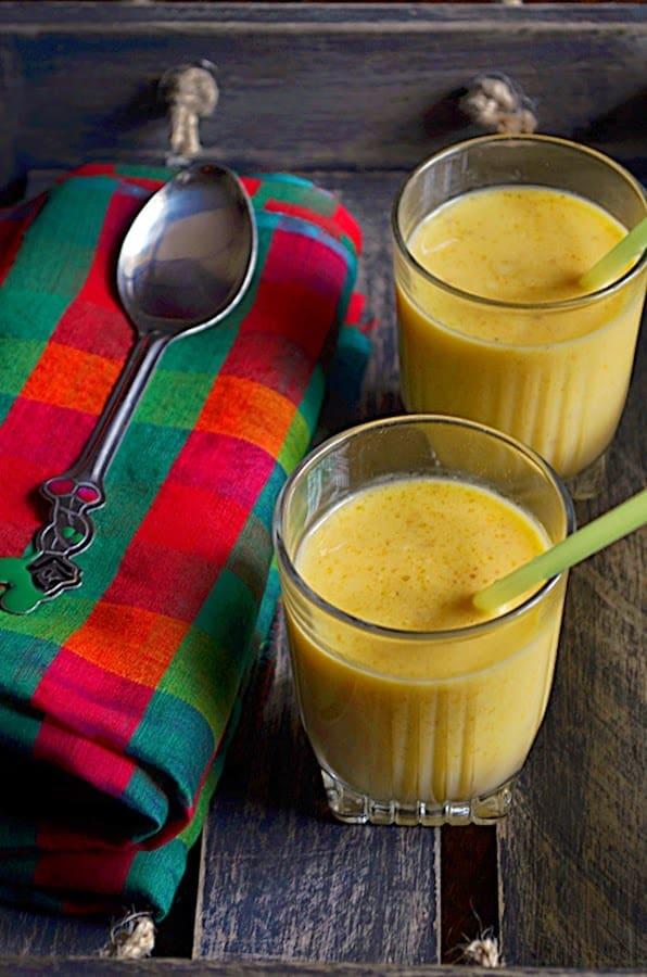 Mango almond milkshake recipe | how to make mango almond milkshake