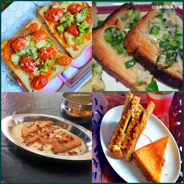 10 easy and tasty recipes with bread | Easy bread recipes | bread recipe collection