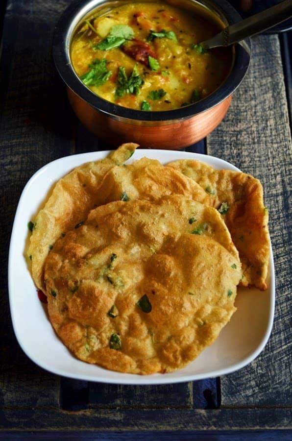 Methi poori recipe,how to make methi poori   Poori recipes
