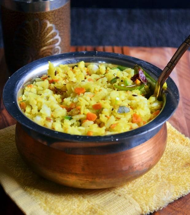 Aval upma recipe,how to make vegetable aval upma | Easy breakfast recipes