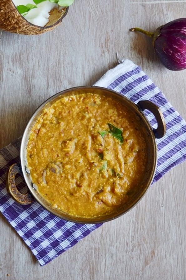Kathrikai pitlai recipe,how to make brinjal pital | Eggplant recipes