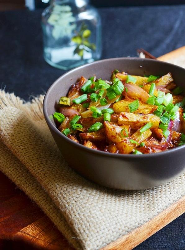 Chilli potato recipe, how to make dry chilli potato recipe