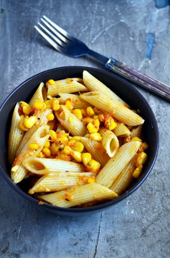 Butter corn pasta recipe  Easy pasta recipes