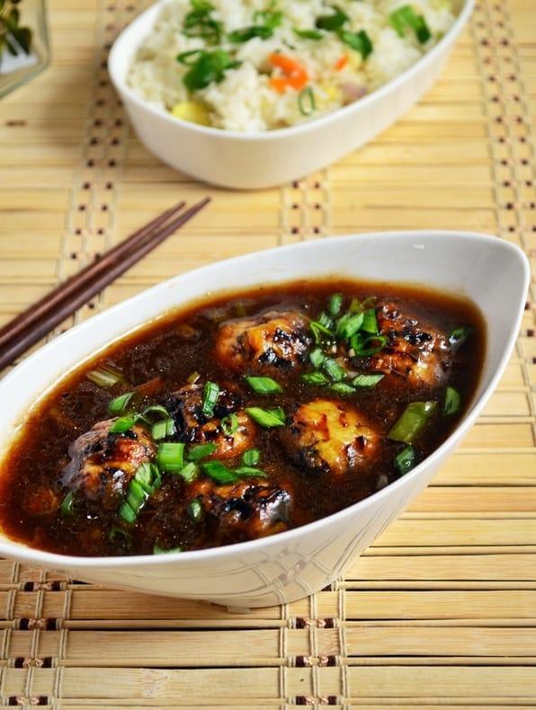 Veg manchurian gravy recipe | Vegetable manchurian recipe |side dish for fried ricerice