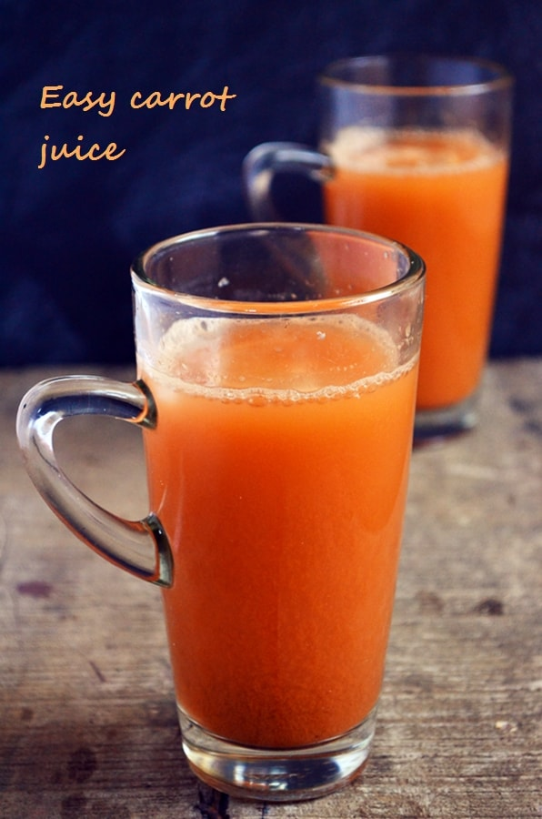 Carrot juice recipe | Healthy carrot lemon juice recipe