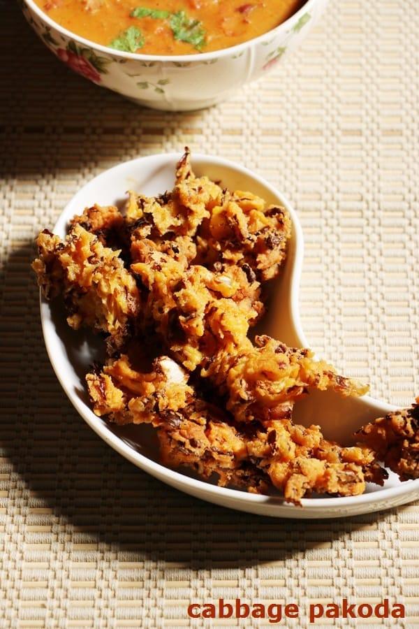 Cabbage pakoda recipe | Quick and easy snack recipes