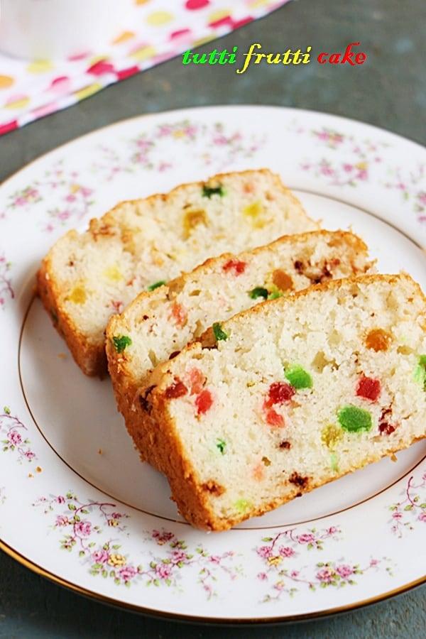 Tutti Frutti Cake Recipe Indian