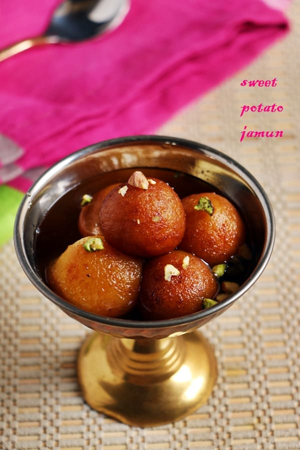 Sweet potato gulab jamun recipe | Vegan gulab jamun recipe