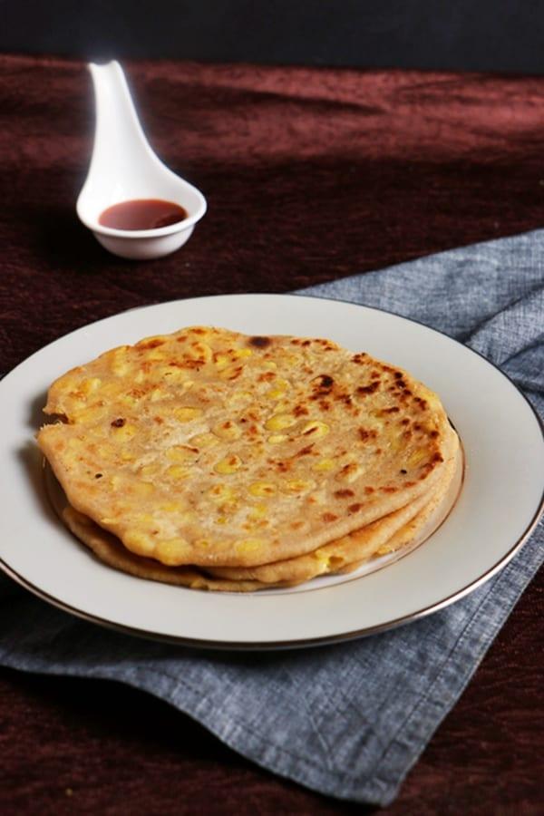 Cheese paratha recipe | Corn cheese paratha recipe
