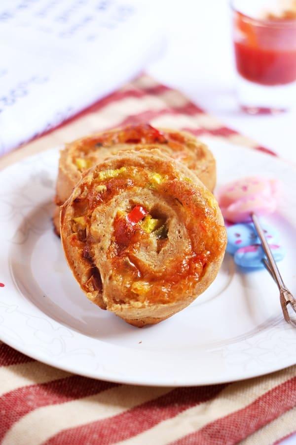 Pizza pinwheels recipe   easy snack recipes