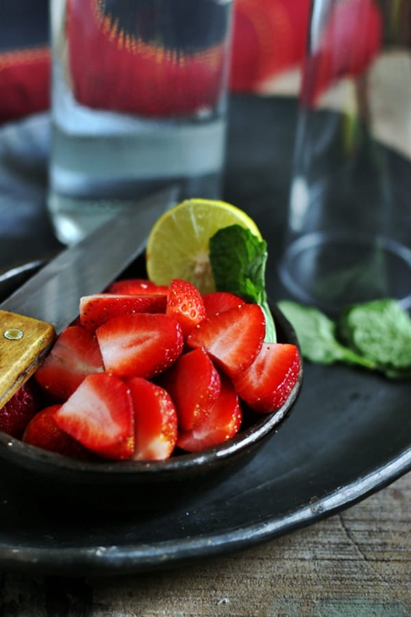 Strawberry mojito (mocktail) recipe