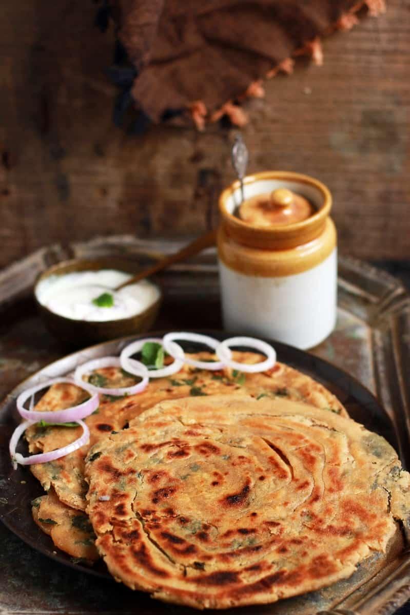 Pudina paratha recipe   Pudina lachha paratha