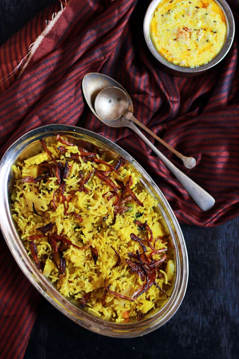 Tahiri recipe, vegetable tahiri recipe