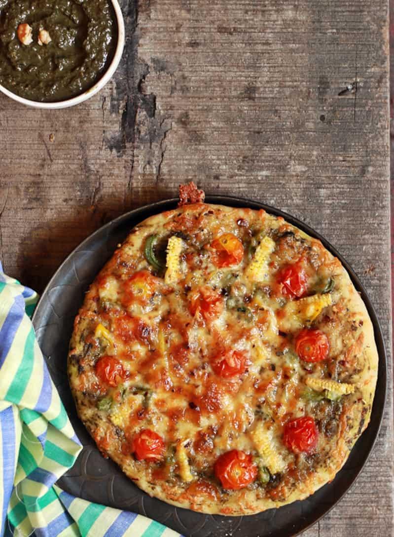 pesto pizza recipe | Basil pesto pizza recipe