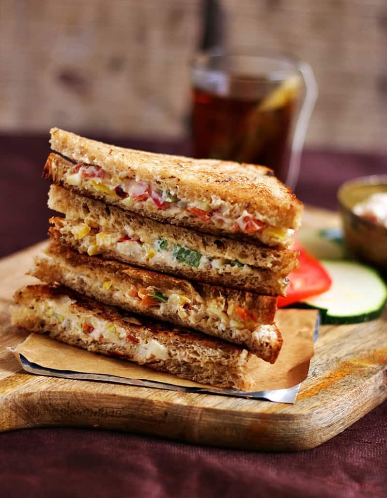 cream cheese sandwich recipe | Easy sandwich recipes