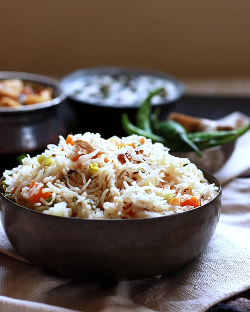 Veg pulao recipe, how to make veg pulao | Vegetable pulao recipe