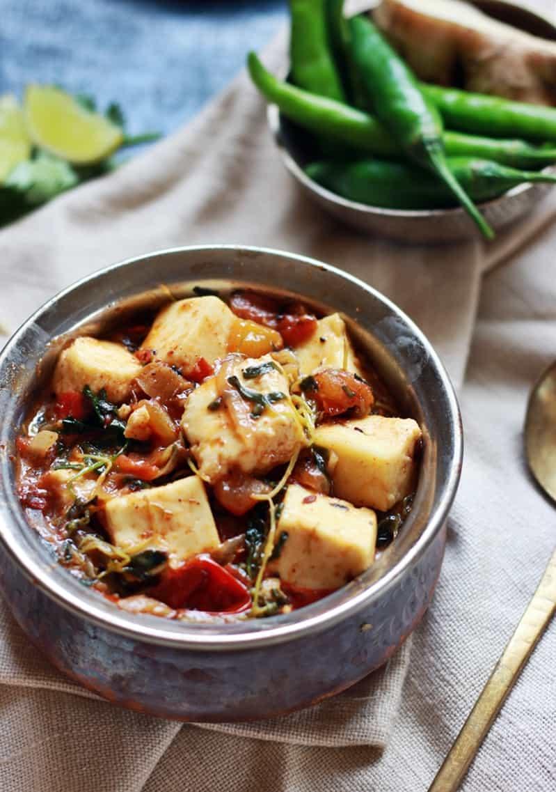 Methi paneer recipe, how to make methi paneer masala | methi recipes