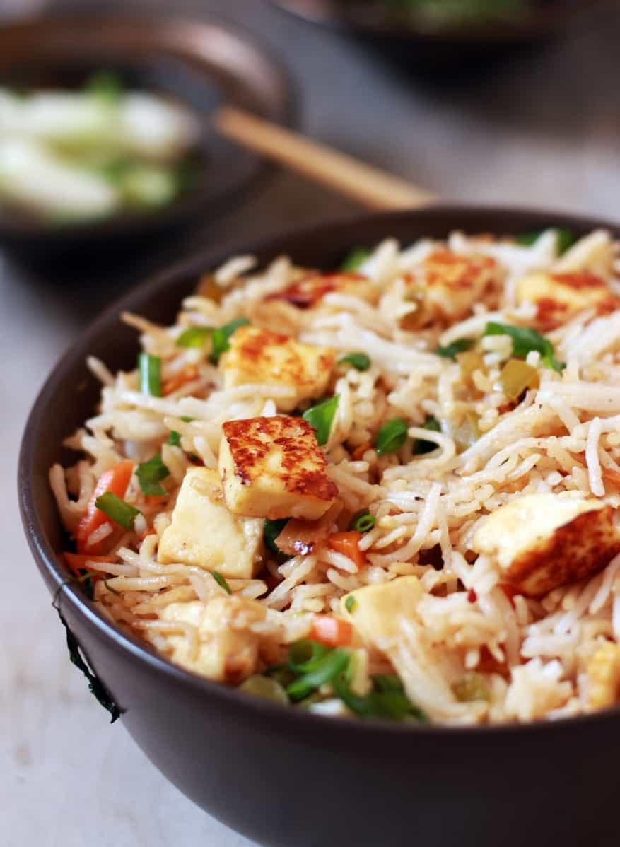 Paneer fried rice recipe | How to make paneer fried rice | Paneer recipes