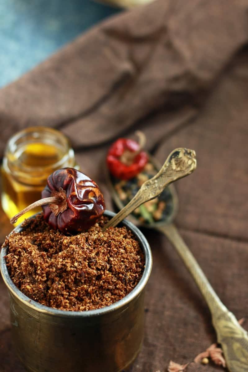 Nalla karam podi recipe |How to make nalla karam podi