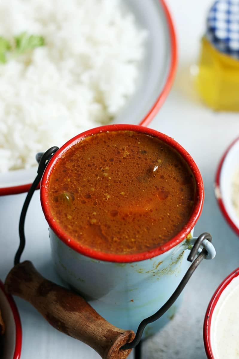 Lunch menu ideas 2- South Indian no onion garlic lunch platter