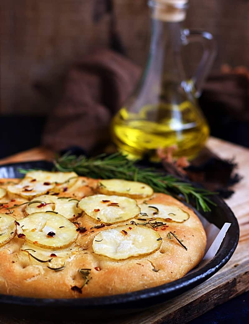 Potato rosemary focaccia recipe