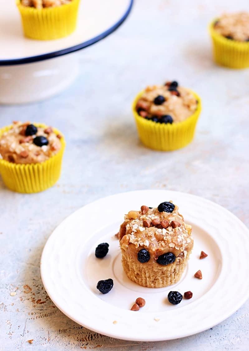 vegan banana muffin recipe | multigrain banana muffins recipe