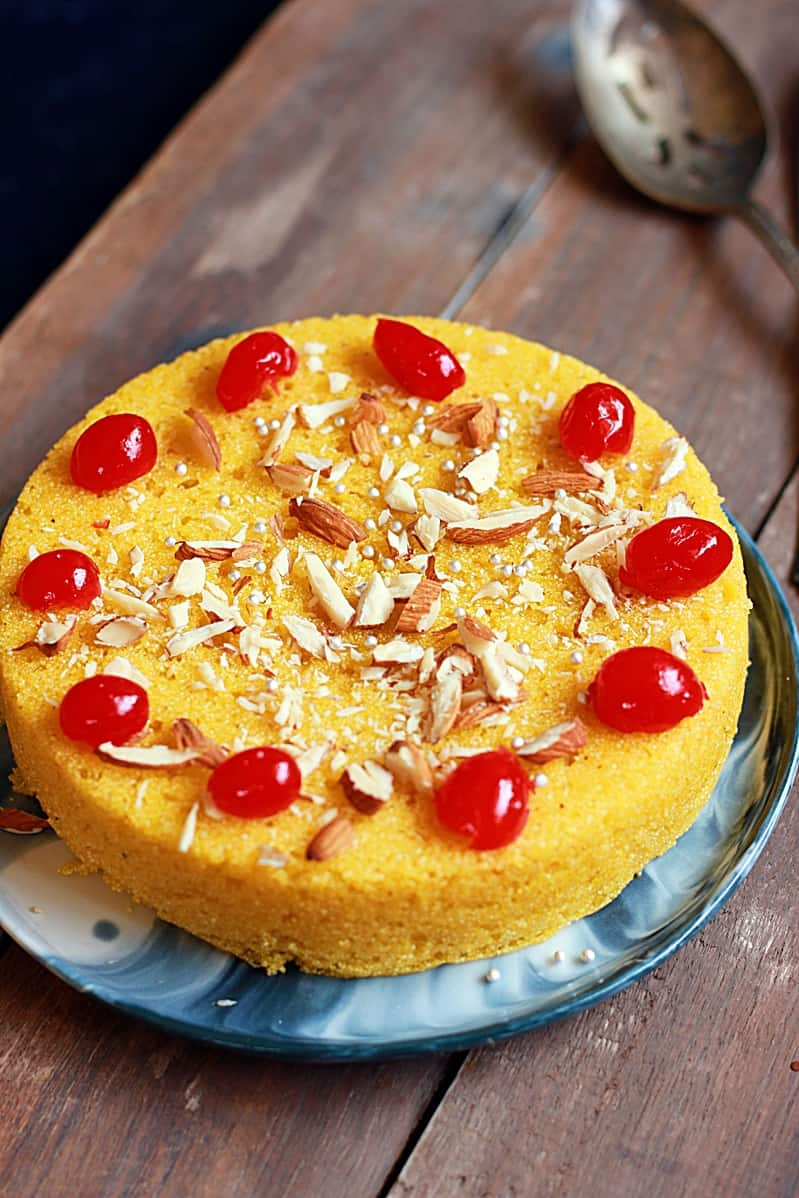 Mango rava cake recipe   Easy semolina mango cake recipe