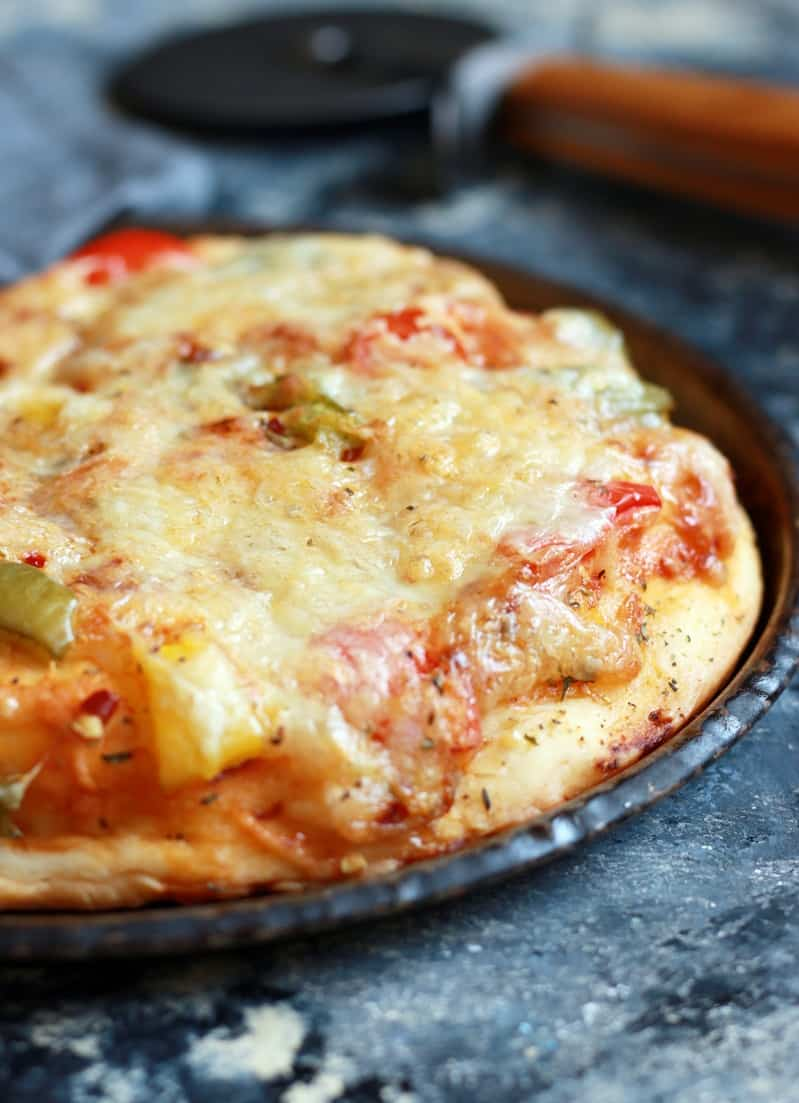 Cheese burst pizza recipe | Whole wheat veg cheese burst pizza recipe