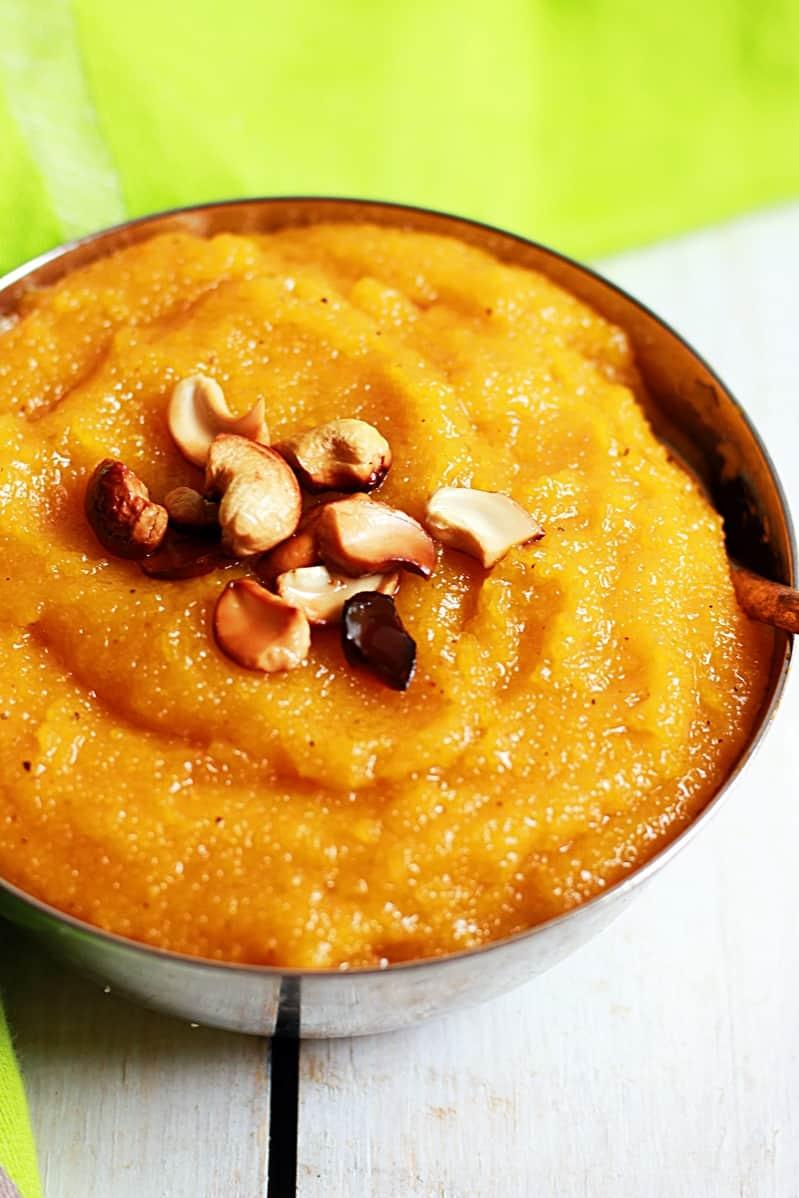 Mango kesari recipe, How to make mango kesari | Mango sheera recipe