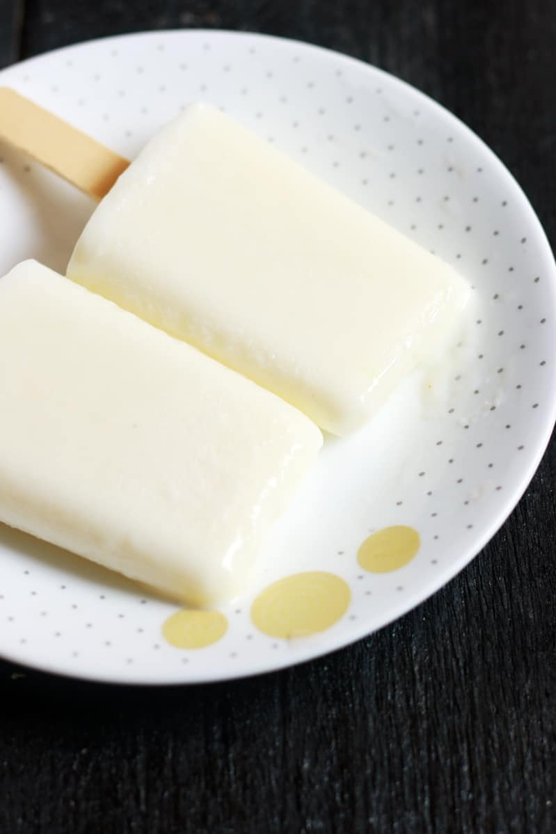Paal ice recipe | How to make paal ice | milk popsicle recipe