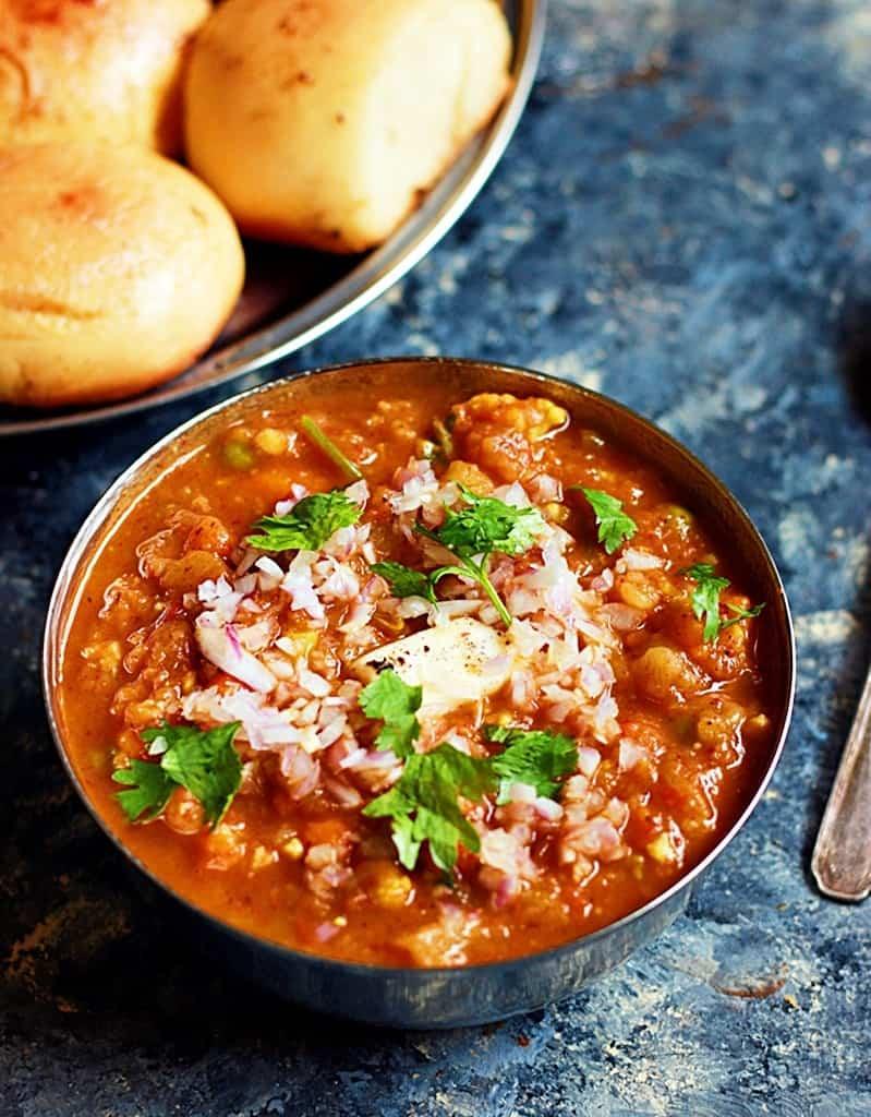 Pav bhaji recipe, how to make mumbai pav bhaji recipe