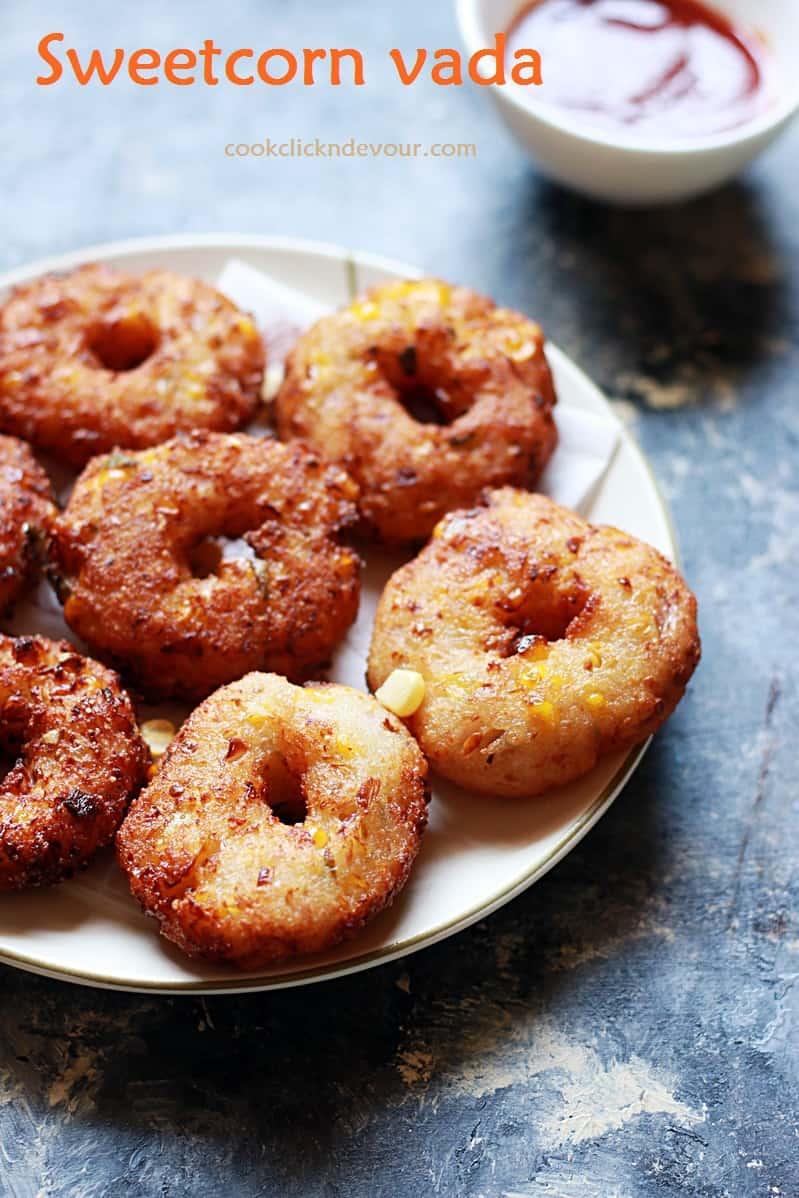Corn vada recipe | 10 minutes instant sweet corn vada recipe