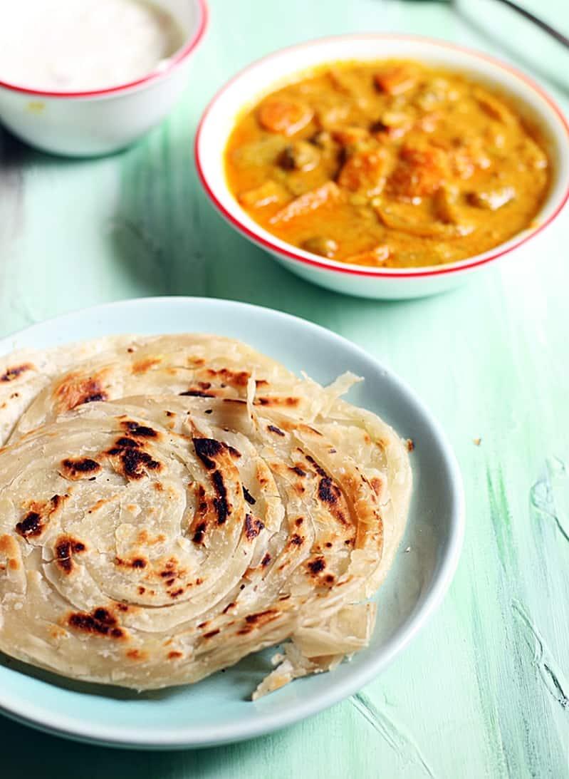parotta recipe, malabar parotta recipe | How to make kerala parotta