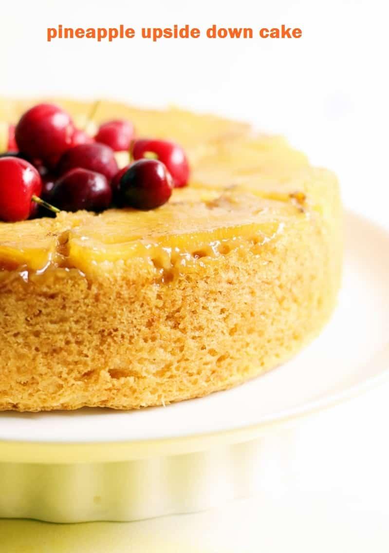 eggless pineapple upside down cake recipe