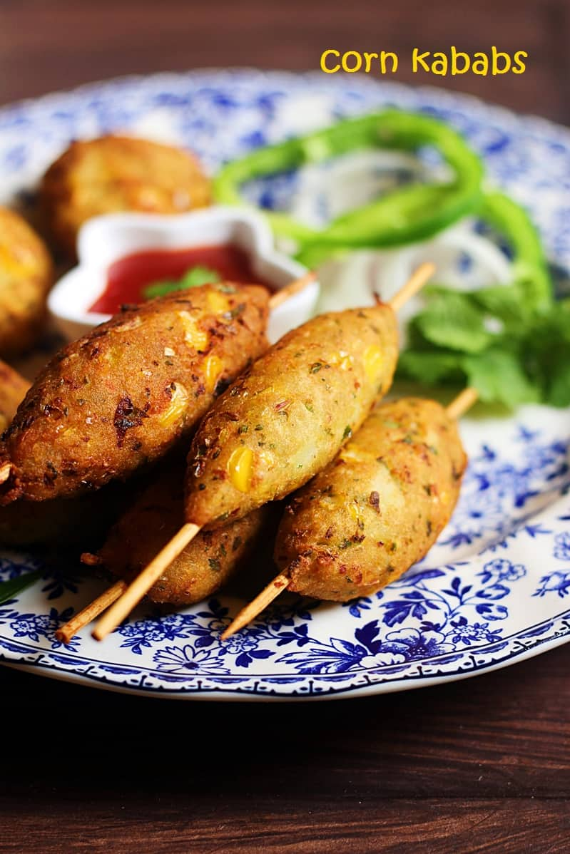 corn cutlet recipe | easy corn kabab recipe | corn patties recipe