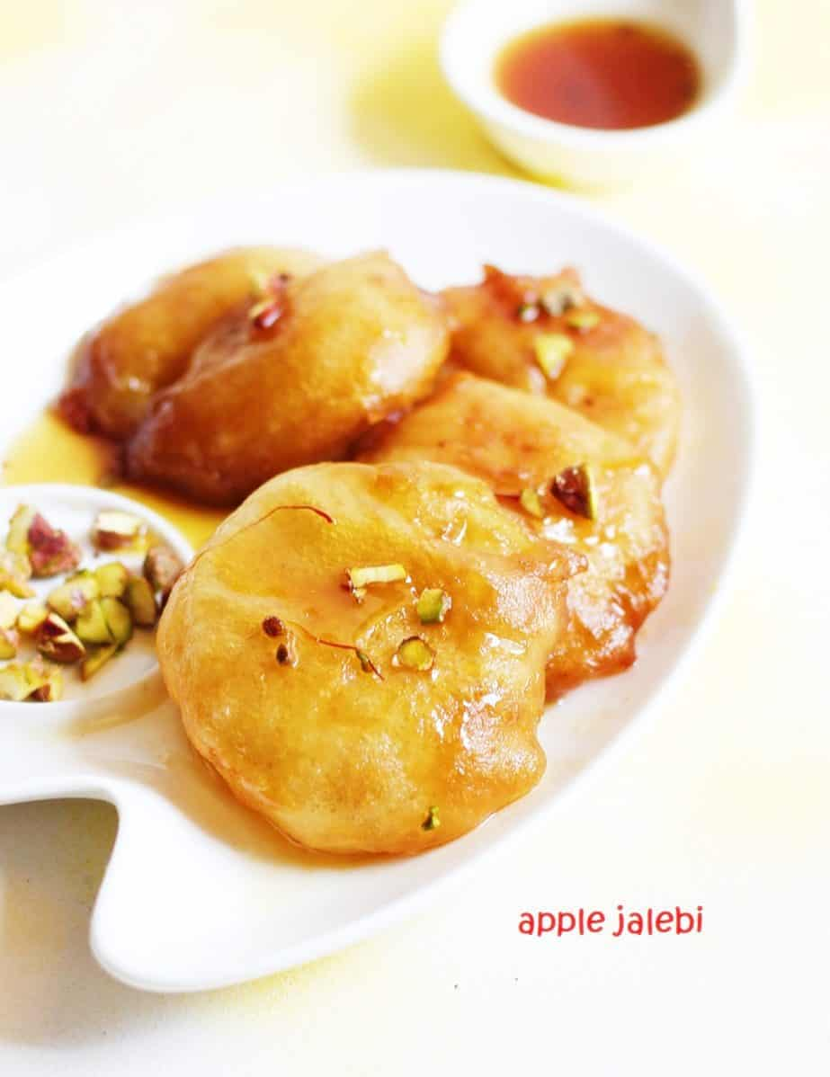 Apple jalebi recipe | How to make apple jalebi | Diwali 2017 recipes