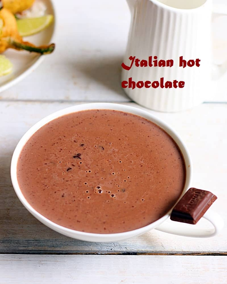Italian hot chocolate recipe, how to make | Ciccolata calda