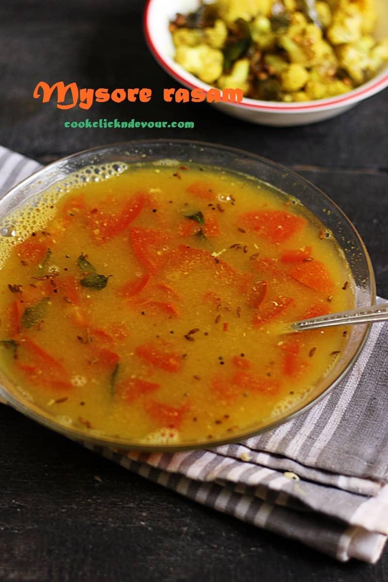 Mysore rasam recipe, how to make mysore rasam | Rasam recipes