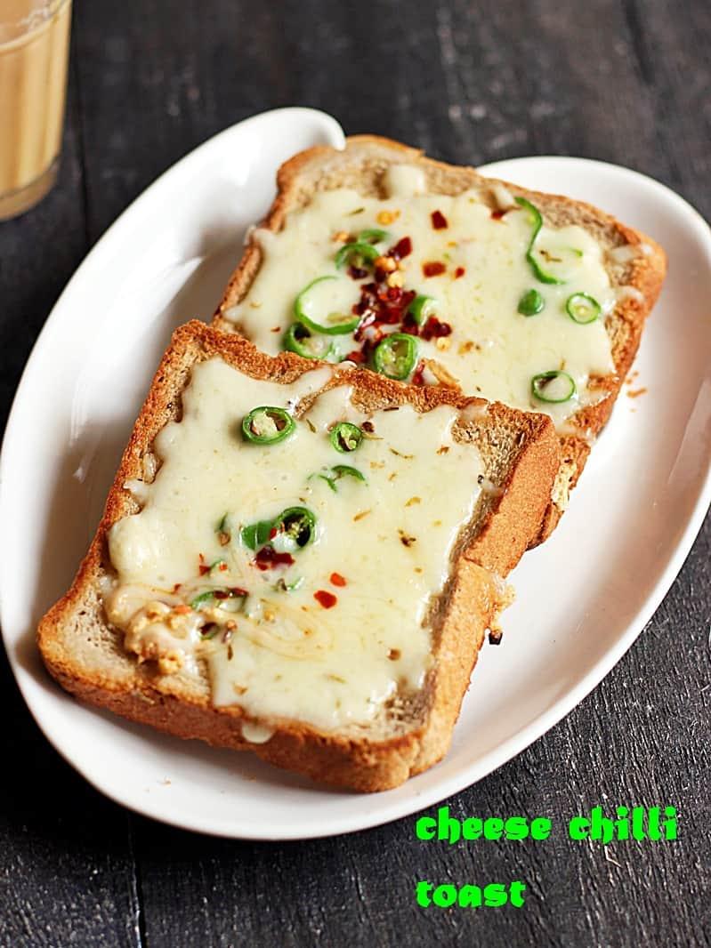 Cheese chilli toast recipe | Chilli cheese toast recipe on tawa and oven