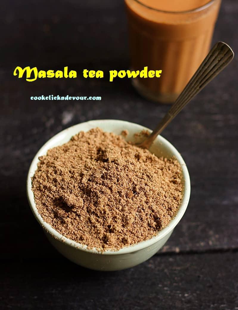Masala tea powder recipe, how to make masala tea powder | Chai masala powder