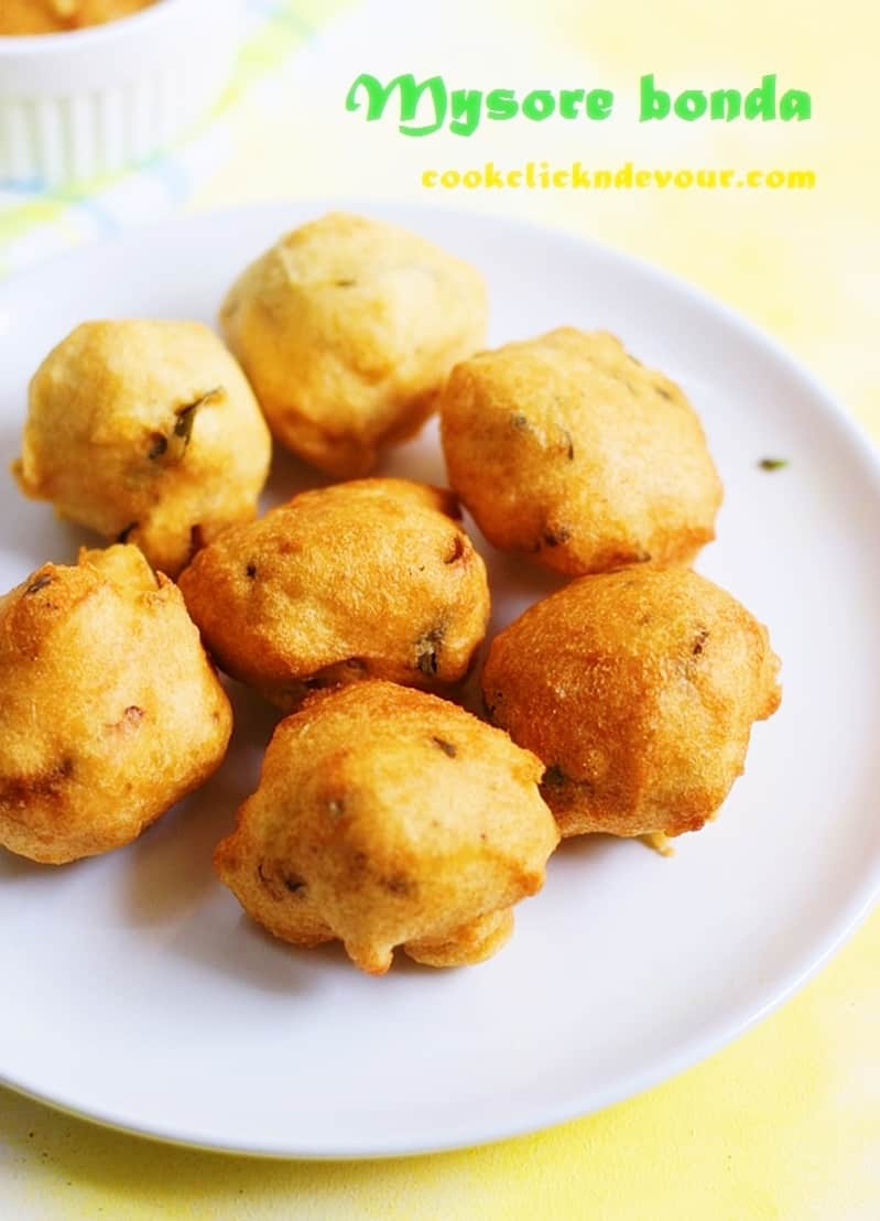 Mysore bonda recipe, how to make mysore bonda | ulundu bonda recipe